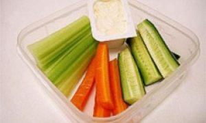 cucumber and carrot sticks
